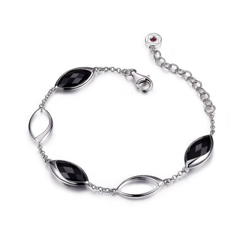 ELLE Blink Collection Sterling Silver and Black Onyx Bracelet B0309