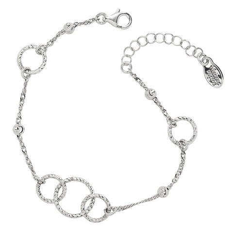 Frederic Duclos Sterling Silver O-Mazing Bracelet