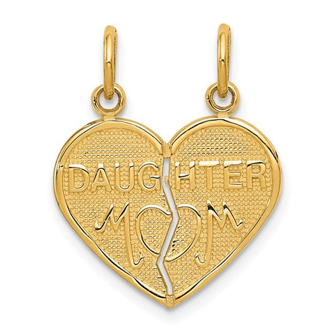 14k Yellow Gold Break-Apart MOM-DAUGHTER Charm/Pendant