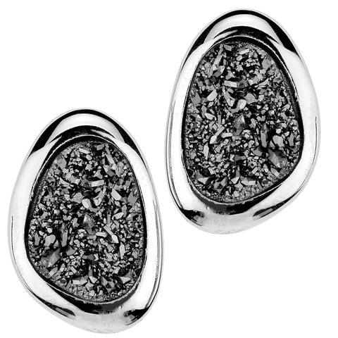 Sterling Silver Lightning Drusy Wanda Earrings