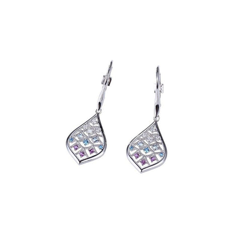 ELLE Island Life Collection Multi Color Amethyst Earrings E01009