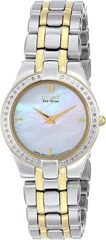 Lady's Two Tone Stainless Steel Dress Watch