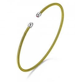 ELLE Yellow and White FlexMetal Bracelet