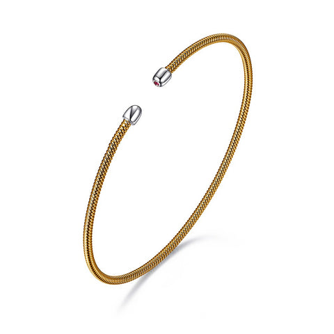ELLE Two Tone FlexMetal Bracelet