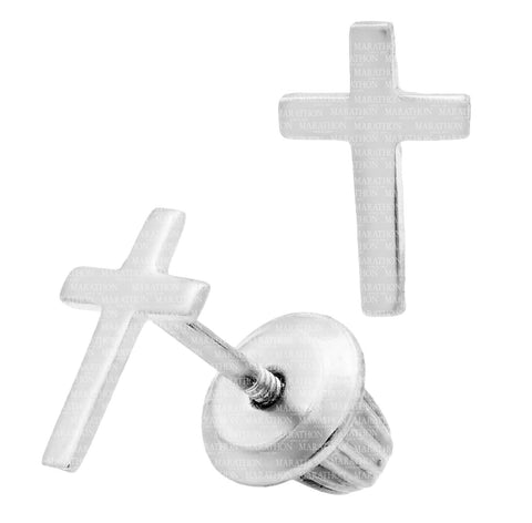 Kiddie Kraft Sterling Silver Cross Earrings