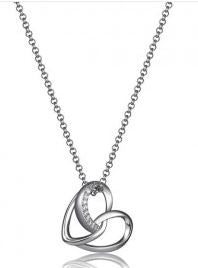 ELLE Sterling Silver Heart Necklace