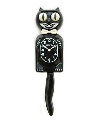 Classic Black Kitty-Cat Klock (12.75″ high) 3/4 Size of Original Black and White Gentleman