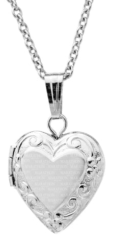 Kiddie Kraft Sterling Silver Floral Heart Locket
