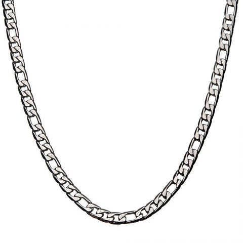 Stainless Steel 7.5mm Figaro Chain Necklace