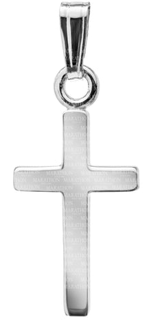Kiddie Kraft Sterling Silver Polished Cross Necklace