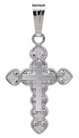 Kiddie Kraft Sterling Silver Ornate Cross Necklace