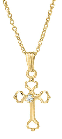 Kiddie Kraft 14K Gold-Filled Cross Necklace