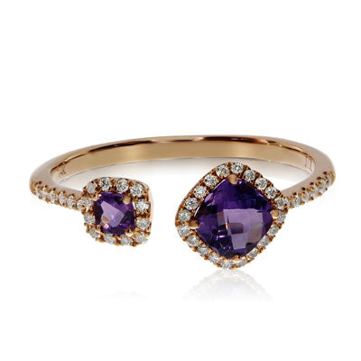 Brevani Amethyst and Diamond Fashion Ring RM3749P-02