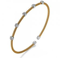 ELLE Two Tone FlexMetal Fashion Bracelet