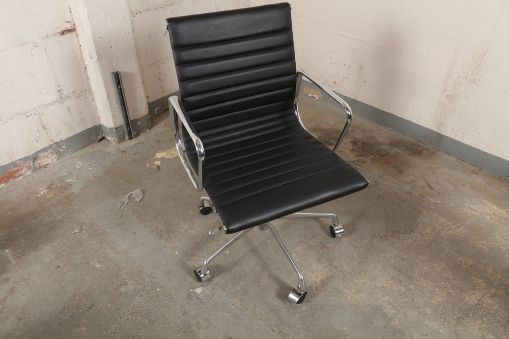 Genuine Leather Office Chair, Eames Reproduction – Open Crate