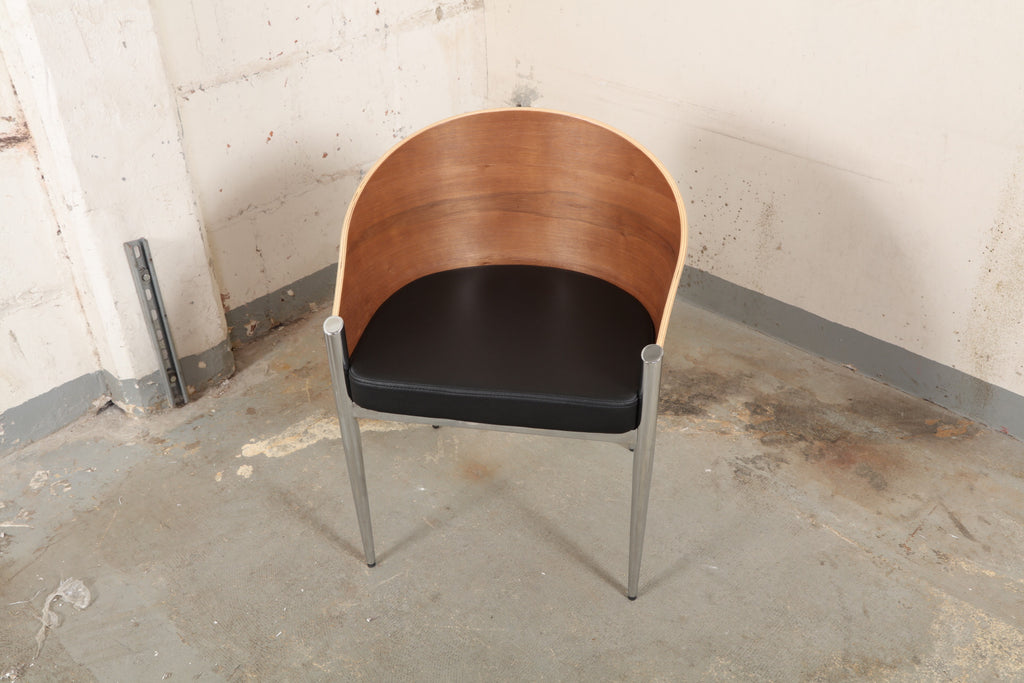 Barrel Accent Side Lounge Chair With Chrome Legs #121