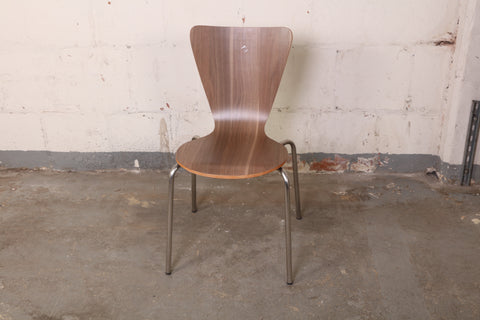 cherner style walnut wood side dining chair 192