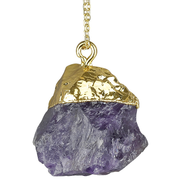 Amethyst Rough Gemstone Necklace + Meditation App