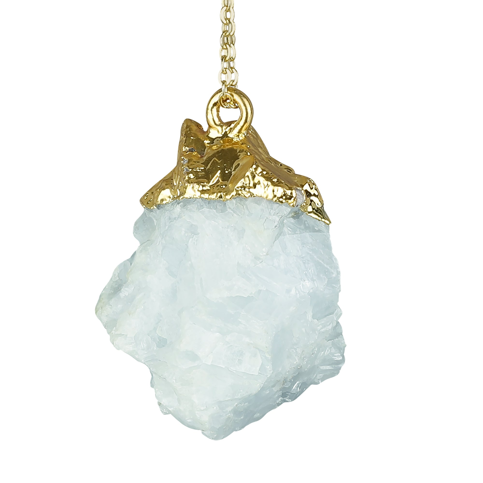 Aquamarine Rough Gemstone Necklace + Silatha Meditation App