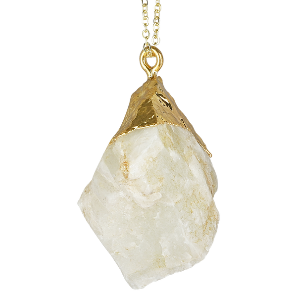 Moonstone Rough Gemstone Necklace + Silatha Meditation App