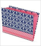 Accordion folder in red white and blue