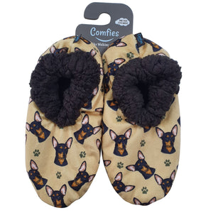 Comfie Slippers Black Chihuahua