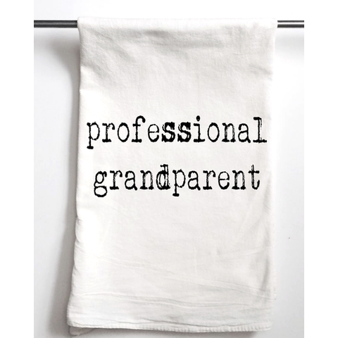 "Tea Towel ""Professional Grandparent"""