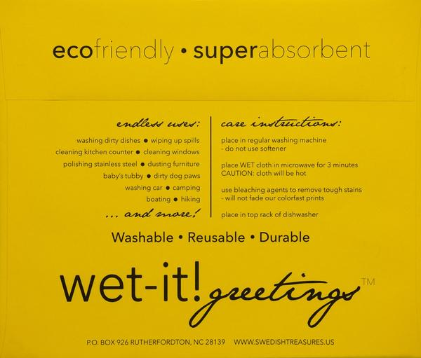 Wet-It! Cloth Greetings Envelopes