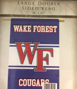 School Spirit LARGE Double Sided Wake Forest Flag