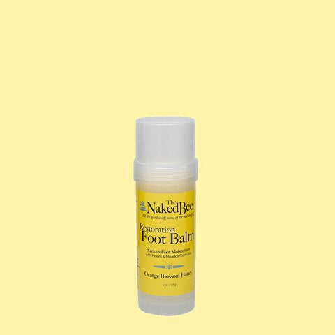 The Naked Bee Orange Blossom & Honey Restoration Foot Balm 2 oz.