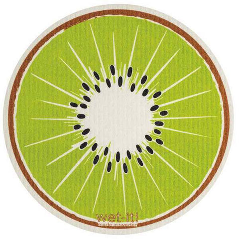 Kiwi Round Swedish Wet-It Kitchen Cloth