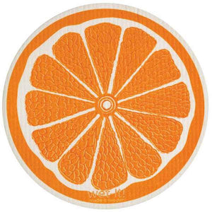 Orange Round Swedish Wet-It Kitchen Cloth