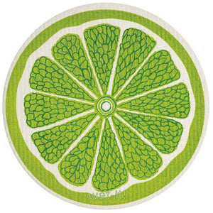 Lime Round Swedish Wet-It Kitchen Cloth