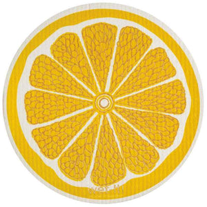 Lemon Round Swedish Wet-It Kitchen Cloth