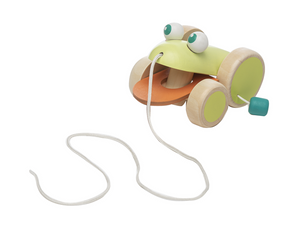 Wooden Frog Pull Toy
