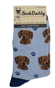 Sock Daddy Red Dachshund Socks