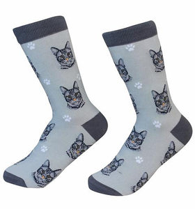 Sock Daddy Silver Tabby Cat Socks