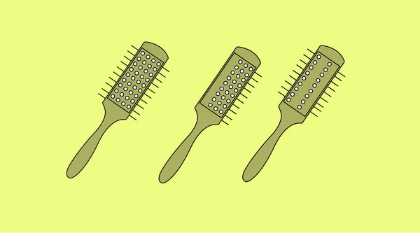 Modifying a Denman Brush for Thick Curly Hair