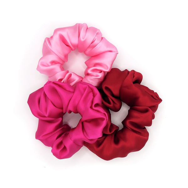 Large Silk Scrunchie Trio