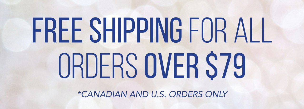 FREE SHIPPING for ALL orders over $79