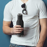 Asobu BT60BK Double Walled Speaker Bottle - Black