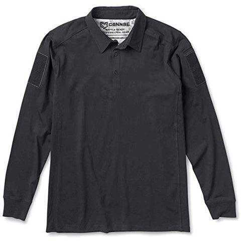 Mission Critical Designs Cannae Professional Operator Long Sleeve Polo Shirt Black Lg CPG-APS-PLC-L-B
