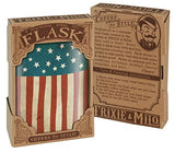 Old Glory American Flag, Independence Day Flask - 8oz Stainless Steel Flask - comes in a GIFT BOX - by Trixie & Milo