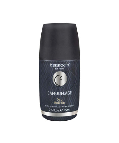 Herbacin Herbacin camouflage roll-on deodorant 2.5 fluid ounce, Gray, 2.5 Fl Oz