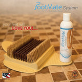 The FootMate System Foot Brush Scrubber with Rejuvenating Gel…