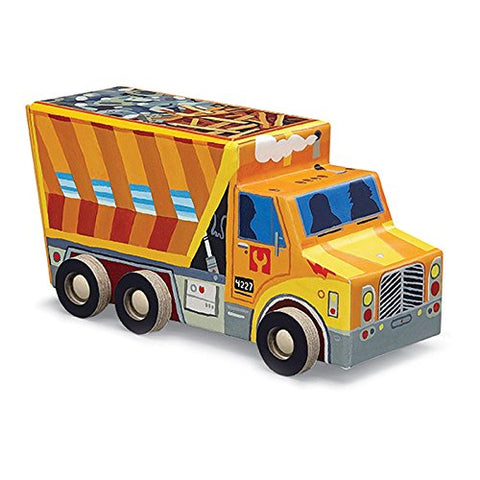 Crocodile Creek Dump Truck 48 Piece Jigsaw Puzzle in Vehicle Shaped Box 8""