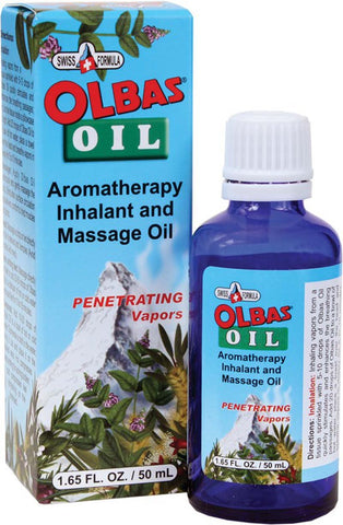 Olbas Oil Aromatherapy Inhalant and Aromatic Massage Oil, 1.65 Fl Oz