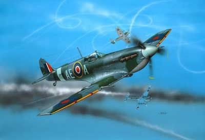 Spitfire Mk V 1:72 - Complete Model Set with Glue and Paint Revell 04164