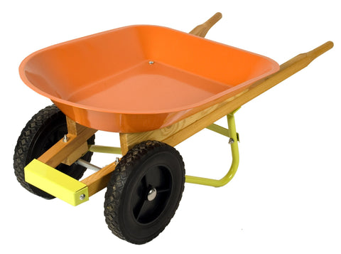 Metallic Two-wheeled Wheelbarrow
