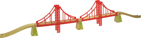 BigJigs Rail Double Suspension Bridge